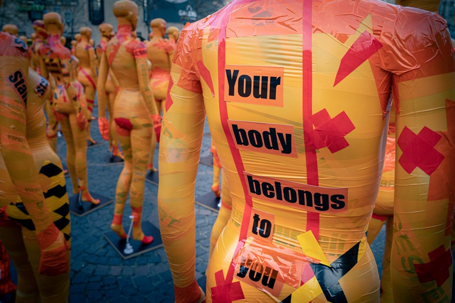 Manikin With Text 'You Body Belongs To You' Written On It