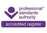 logo of the Professional Standards Authority's accredited registers scheme